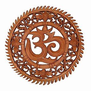 Mandala OM Arabesque de Madeira Suar 30cm