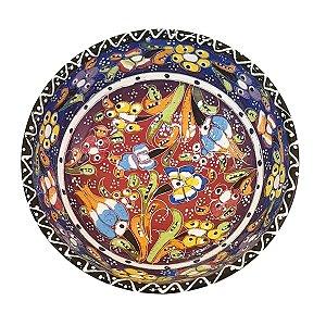 Bowl Turco Pintado de Cerâmica Azul Royal Estampado 12cm (Pinturas Diversas)