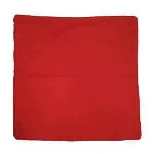 Capa de Almofada de Algodão Lisa Vermelha 45x45cm