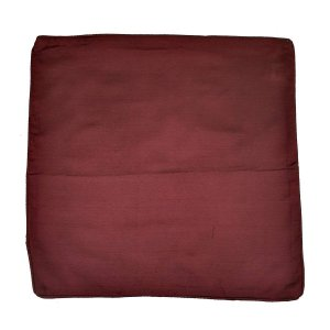 Capa de Almofada de Algodão Lisa Vinho 45x45cm