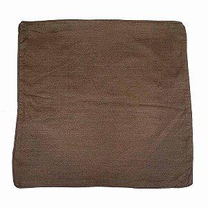 Capa de Almofada de Algodão Lisa Marrom 45x45cm
