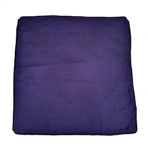 Capa de Almofada de Algodão Lisa Azul 45x45cm