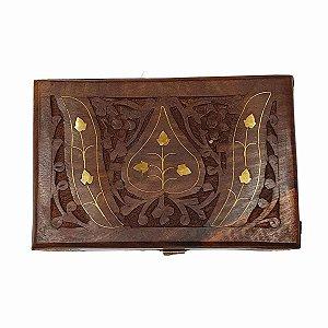 Caixa Decorativa de Madeira Indiana 15cm
