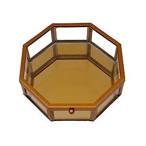 Caixa Decorativa de Vidro Espelhada Octagonal 20cm