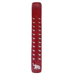 Incensário Vareta com Elefante Vermelho 26cm