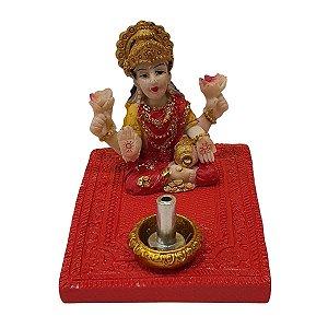 Incensário Vareta Lakshmi de Resina Vermelho 5cm