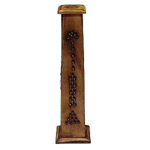 Incensário Vareta de Madeira Indiano em Pé 30cm