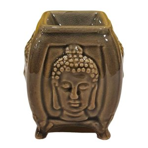 Difusor de Essências de Cerâmica Buda Marrom 8cm