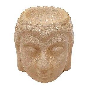 Difusor de Essências de Cerâmica Cabeça de Buda Areia 10cm