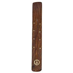 Incensário Vareta de Madeira Paz 26cm
