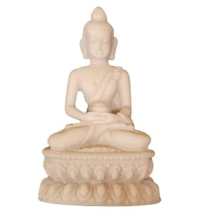 Miniatura de Buda Sidarta Meditação de Pó de Mármore 8cm (Modelo 1)