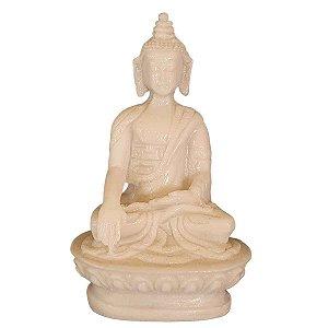 Miniatura de Buda Sidarta Meditação de Pó de Mármore 8cm (Modelo 2)