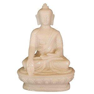 Miniatura de Buda Sidarta Meditação de Pó de Mármore 8cm (Modelo 3)