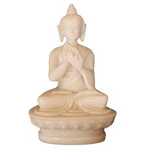 Miniatura de Buda Sidarta Dharma de Pó de Mármore 8cm (Modelo 4)