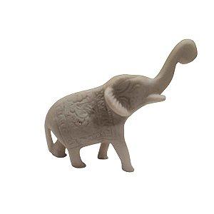 Mini Elefante Indiano de Pó de Mármore Tromba p/ Cima 12cm