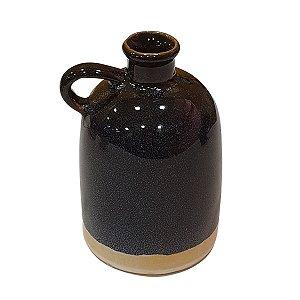 Mini Vaso de Cerâmica Azul Marinho 12cm