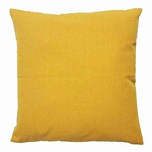 Capa de Almofada de Algodão Lisa Amarela 45cmx45cm