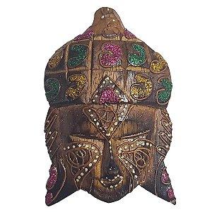 Imã Pintado de Madeira Balsa Cabeça de Buda