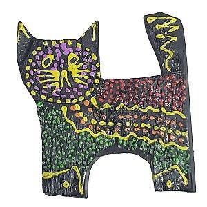 Imã Pintura Dots de Madeira Balsa Gato