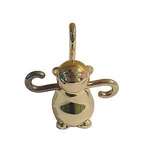 Porta Anel Umbra de Metal Dourado Macaco