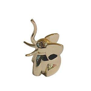 Porta Anel Umbra de Metal Dourado Elefante