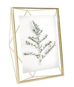 Porta Retrato Umbra Prisma Dourado - 13x18cm