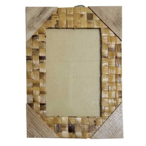 Porta Retrato Trançado de Folha de Bananeira - 13x18cm