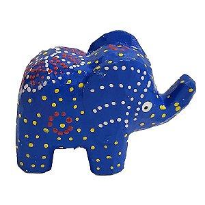 Elefante Madeira Balsa Azul 5cm