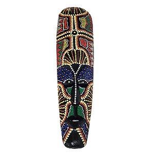 Máscara Pintura Aborígene Dots Madeira Fina(COR VARIADA)50cm