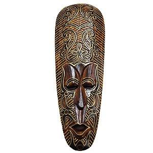 Máscara Tribal Madeira Balsa Larga 50cm