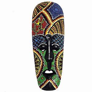 Máscara Pintura Aborígene Dots Gitgit Madeira Balsa Fina 30cm