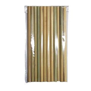 Canudo de Bambu Pacote 12un - 20cm