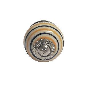 Puxador Cerâmica Indiano Pequeno (Modelo 4)