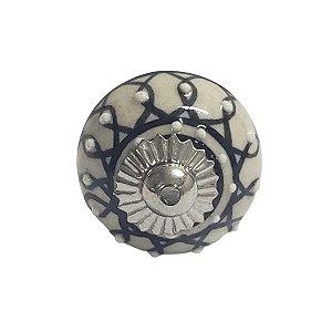 Puxador Cerâmica Indiano Pequeno (Modelo 15)
