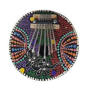 Kalimba Dots Lagarto Coco com Metal (CORES VARIADAS)