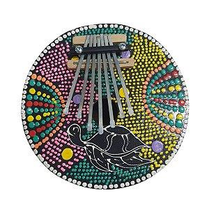 Kalimba Dots Tartaruga Coco com Metal