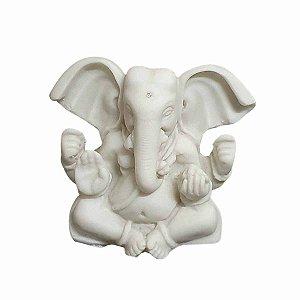 Estátua de Mini Ganesha Pó de Mármore (Modelo 1) 7cm