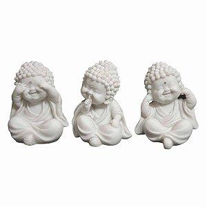 Trio Baby Monges Sábios Pó de Mármore