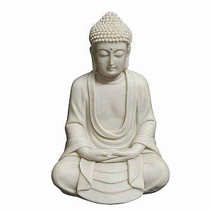 Estátua de Buda Mudra Meditação Pó de Mármore 25cm