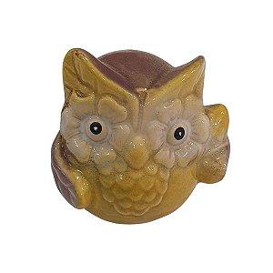 Coruja de Cerâmica Lilás 6cm