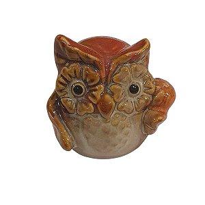 Coruja de Cerâmica Vermelha 6cm