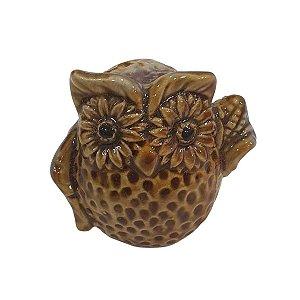 Coruja de Cerâmica Roxo 6cm