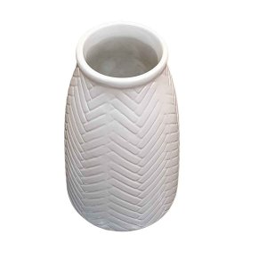 Vaso de Cerâmica Comprido Areia 22cm