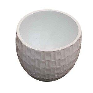 Vaso de Cerâmica Redondo Branco 18cm