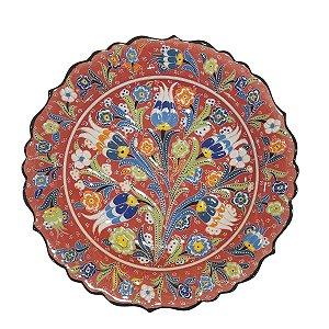 Prato Turco Pintado de Cerâmica (Modelo 3) 30cm