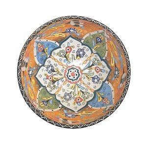 Bowl Turco Pintado de Cerâmica (Modelo 3) 16cm