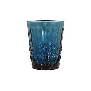 Conjunto de Copos de Vidro Azul - 6 peças