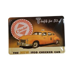 Placa Decorativa de Metal Taxi 30cmx20cm