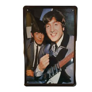 Placa Decorativa de Metal Beatles 20cmx30cm