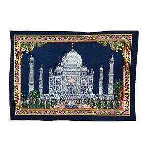 Panô Indiano Bordado Taj Mahal 100% Algodão (modelo 13)